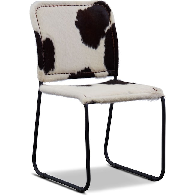 Incredible Avalon Cowhide Dining Chair Bralicious Painted Fabric Chair Ideas Braliciousco