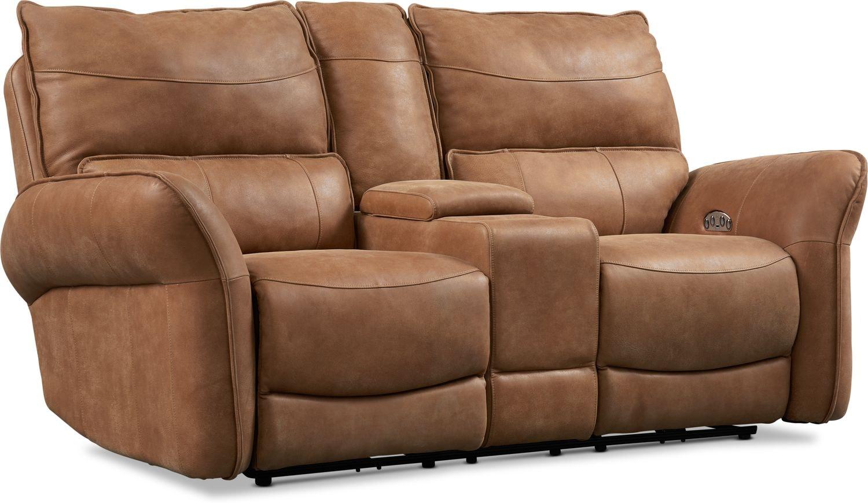 Living Room Furniture - Aspen Dual-Power Reclining Loveseat