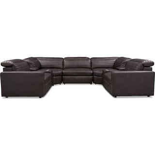 Hunter 7-Piece Dual-Power Reclining Sectional with 3 Reclining Seats