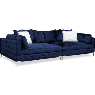 Milan 2-Piece Sofa - Midnight