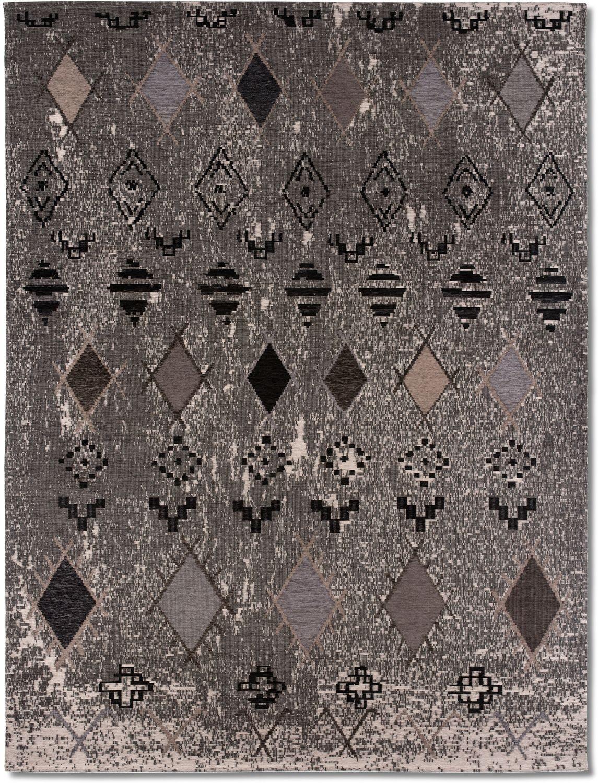 Rugs - Woven Area Rug - Tribal Gray