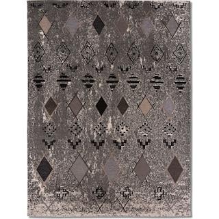 Woven Area Rug - Tribal Gray