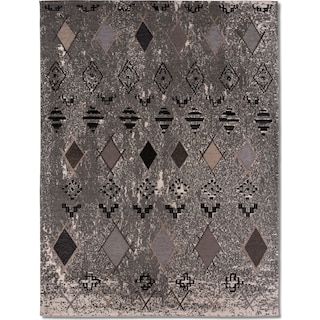 Woven Area Rug - Tribal Gray