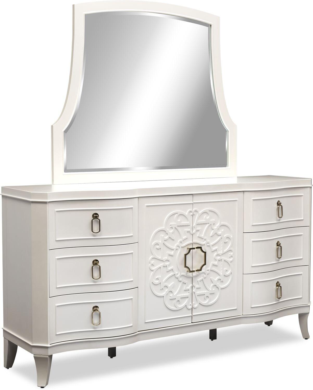 Bedroom Furniture - Isabel Dresser and Mirror