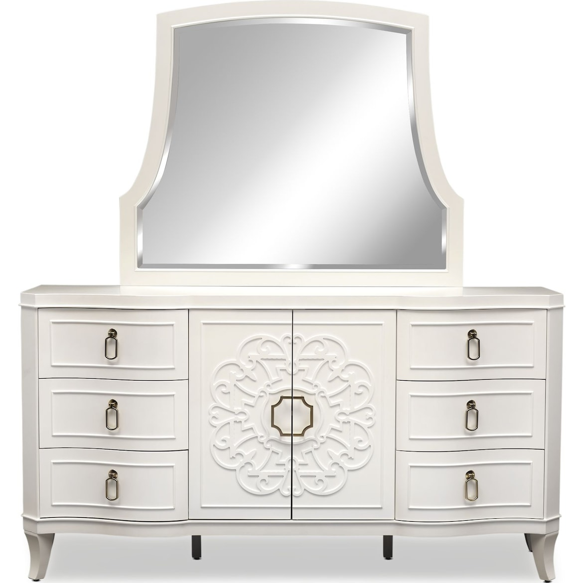 Isabel 5 Piece Post Bedroom Set With Dresser And Mirror