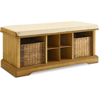 Levi Entryway Storage Bench - Natural