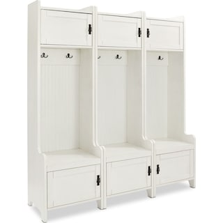 Landon 3-Piece Entryway Set - White
