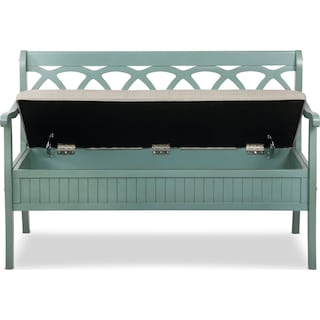 Quincy Storage Bench - Teal