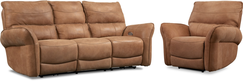 Living Room Furniture - Aspen 2-Piece Sofa and Recliner