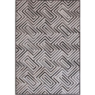 Geo Hide Area Rug - Gray