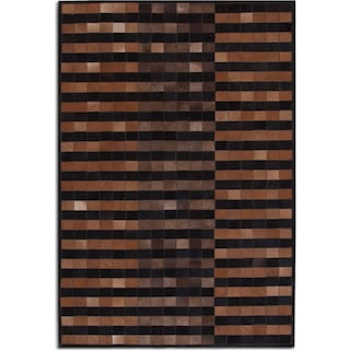 Geo Hide 5' x 8' Area Rug - Brown