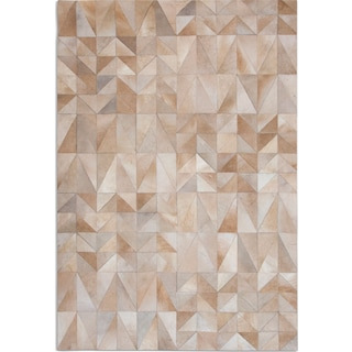 Geo Hide 8' x 10' Area Rug - Tan