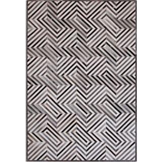 Geo Hide 8' x 10' Area Rug - Gray