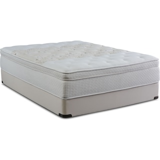 Nature's Spa Como Euro Top King Mattress and Low-Profile Split Foundation