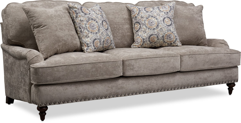 Living Room Furniture - London Sofa - Gray
