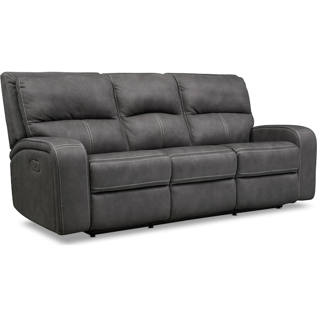 Living Room Furniture - Burke Dual-Power Reclining Sofa