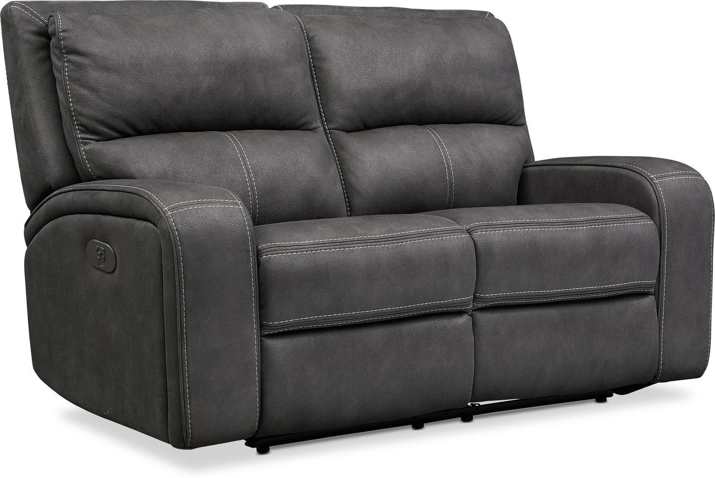 Living Room Furniture - Burke Dual-Power Reclining Loveseat