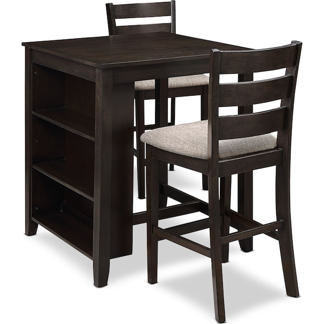 Dining Room Furniture - Hendricks Counter-Height Table with 2 Stools