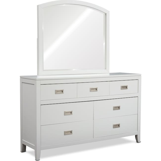Bedroom Furniture - Emerson Dresser and Mirror