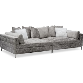 Milan 2-Piece Sofa - Cement