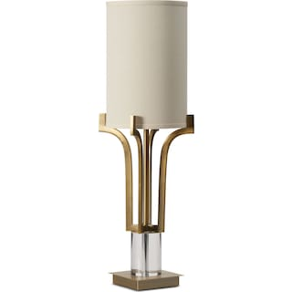 Brushed Brass Crystal Table Lamp
