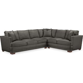 Arden Comfort 2-Piece Large Sectional with Left-Facing Sofa - Sterling