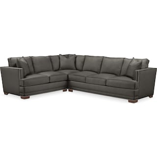 Arden Comfort 2-Piece Sectional with Right-Facing Sofa - Sterling