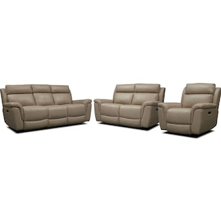 Brooklyn Dual-Power Reclining Sofa, Loveseat, and Recliner