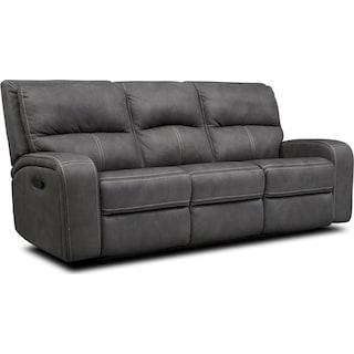 Burke Manual Reclining Sofa - Charcoal