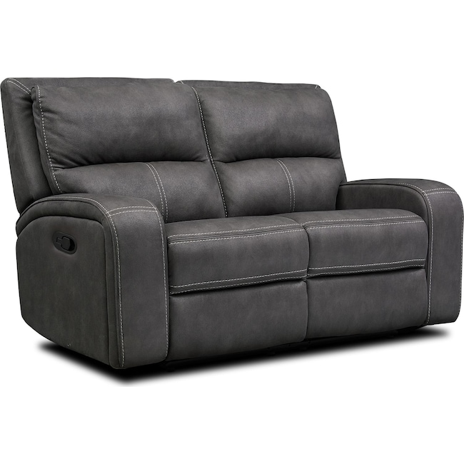 Living Room Furniture - Burke Manual Reclining Loveseat