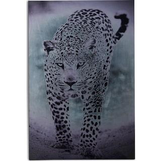 Silver Leopard Wall Art