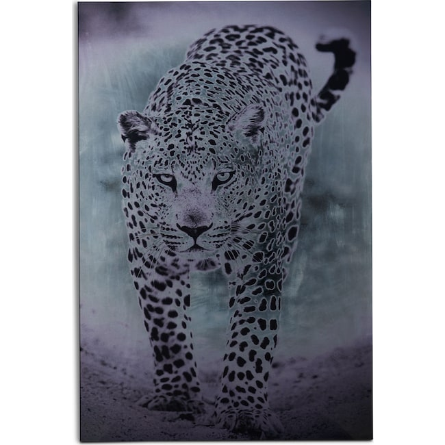 Home Accessories - Silver Leopard Wall Art