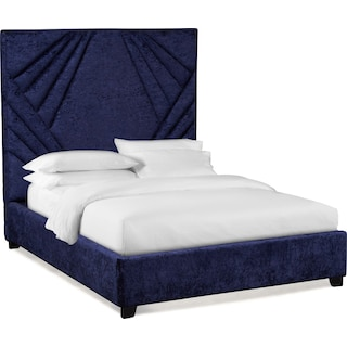 Kiera King Upholstered Gem Bed - Midnight
