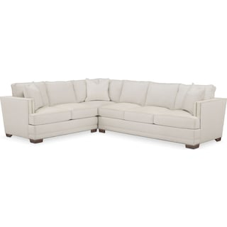 Arden Cumulus 2-Piece Large Sectional with Right-Facing Sofa - Anders Ivory