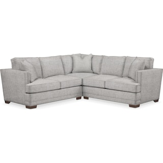 Arden Comfort 2 Piece Sectional with Left-Facing Loveseat - Everton Gray