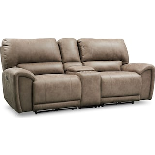 Gallant 3-Piece Dual Power Reclining Sofa with Console - Taupe