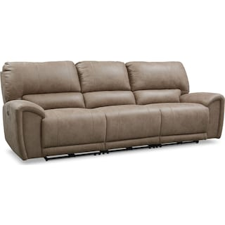 Gallant 3-Piece Dual Power Reclining Sofa - Taupe