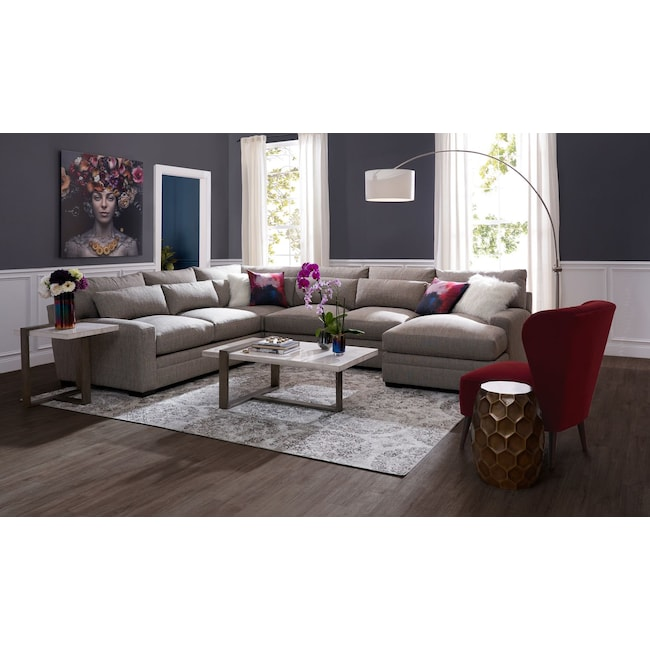 Winston 4 Piece Sectional With Chaise American Signature Furniture