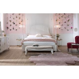 Isabel 5-Piece Post Bedroom Set with Dresser and Mirror