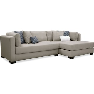 Rosalyn 2-Piece Sectional with Chaise - Gray