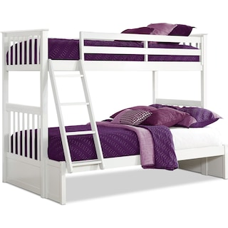 Flynn Twin over Full Bunk Bed - White