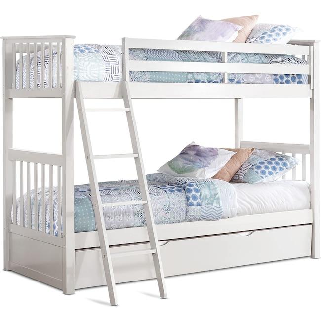 Kids Furniture - Flynn Trundle Bunk Bed