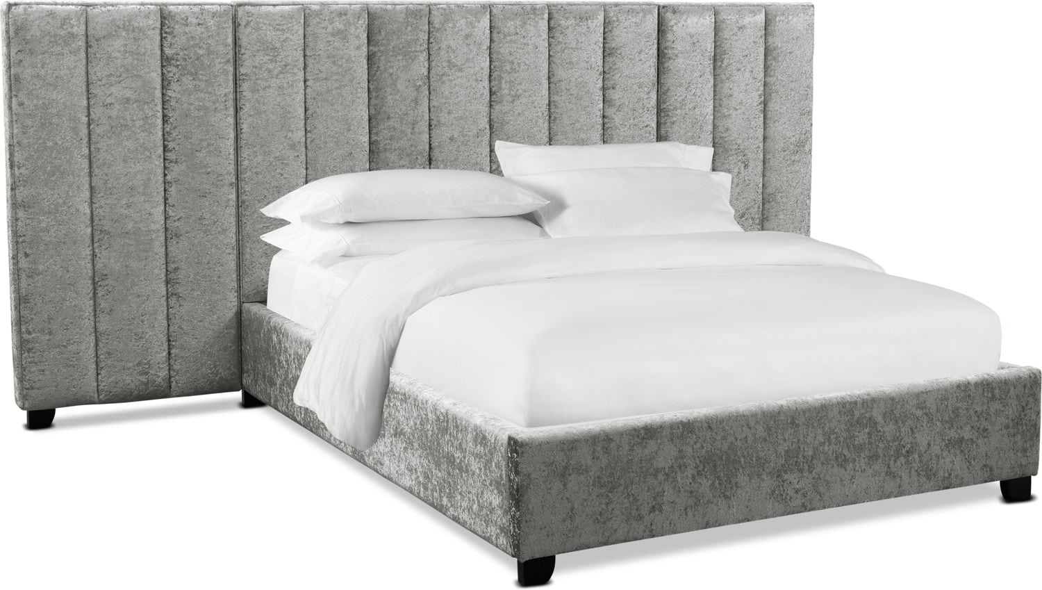 Bedroom Furniture - Kiera Upholstered Channel Wall Bed