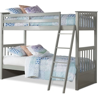 Flynn Twin over Twin Bunk Bed - Gray