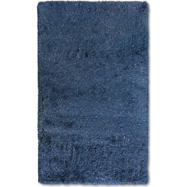 Rugs - Glam Area Rug - Blue