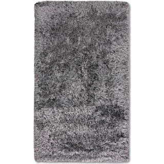 Glam 5' x 8' Area Rug - Black