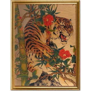 Botanical Tiger Wall Art 1