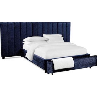Kiera Upholstered Channel Wall Storage Bed
