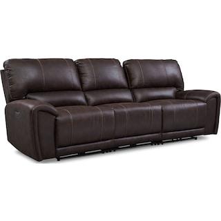 Gallant 3-Piece Dual-Power Reclining Sofa - Chocolate