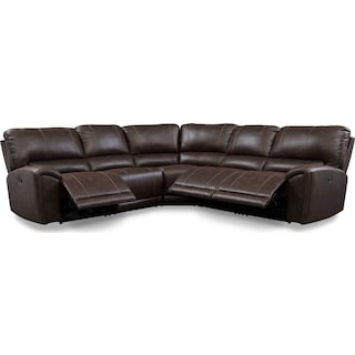 Gallant 5-Piece Manual Reclining Sectional with 3 Reclining Seats